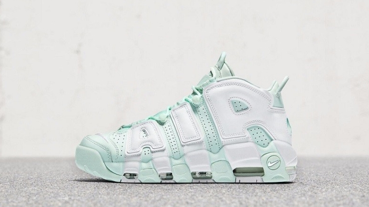 Womens Nike Air More Uptempop Mint Green (2)