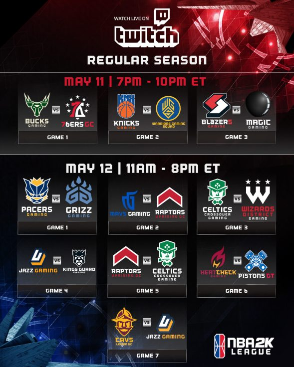 NBA 2K League announces 2018 Regular-Season Schedule – SoleRepublic