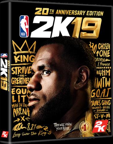 NBA 2k19 LeBron Cover